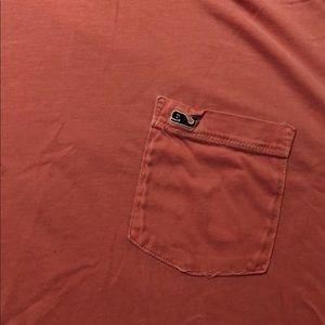 Vineyard Vines Pink Pocket ComfortColor Oversize T
